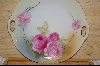 "**MBA #GHPR  ""German Hand Painted Pink Rose Serving Plate"