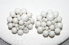 "MBA #88-068  ""Japan Vintage White Acrylic Bead Clip On Earrings"""