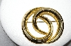 "+MBA #88-465  ""Vintage Gold Plated Fancy Swirl Pin"""