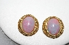 "MBA #88-122  ""Gold Tone Multi Colored Acrylic Stone Clip On Earrings"""
