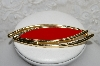 "MBA #88-049  ""Monet Gold Tone Red Enamel Pin"""