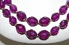 "MBA #88-463  ""Fancy Purple Lucite Bead Necklace & Earring Set"""