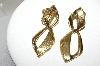 "**MBA #88-024  ""Napier Gold Tone Two Part Clip/Screw Back Earrings"""
