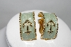 "+MBA #87-231  ""Gold Plated Enameled Anchor Clip On Earrings"""