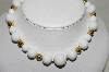 "MBA #89-035  ""Monet Set Of 2 White Acrylic Bead Necklaces"""