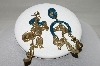 "MBA #87-008  ""Gold Tone, Enameled Western Charm Pierced Earrings"""