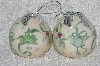 "+MBA #SG9-243  ""Set Of 6 Signed Tracy Porter Paper Mache Christmas Ornaments"""