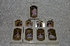 "**MBA #SG9-179    ""DG Creations Set Of 9 Pretty Woman Porcelain Doll Ornaments"""