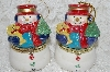 "+MBA #SG9-082    ""Mr. Christmas Set Of 2 Snowman Animated Music Box Ornaments"""