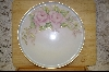 **Large Round Hand Painted Pink Rose Platter