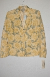 "**MBADG #13-009  ""Jones New York Country Yellow Rose Blazer"""