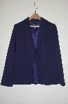 "**MBADG #13-013  ""Dialogue Blue Classic (R) Refined Stretch 1 Button Blazer"""