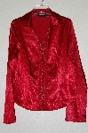 "**MBADG #13-047  ""Metrostyle Red Lace Front Satin Shirt"""