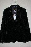 "**MBADG #13-061  ""Bob Mackie Black Beaded Rose Pattern Burnout Velvet Jacket"""