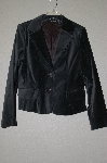 "**MBADG #13-072  ""Attention Grey Velvet Button Front Jacket"""