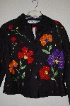 "**MBADG #13-080  ""Anage Black Floral & Bead Embelished Short Jacket"""