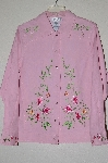 "**MBADG #13-132  ""Victor Costa Pin Floral Embroidered Jean Jacket"""