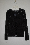 "MBADG #13-156  ""One By Maria Cornejo 2 Piece Black Jewel Neck Lace Top & Camisole"""