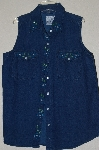 "MBADG #13-164  ""Andrew's One Of A Kind Blue Denim Hand Beaded Shirt"""