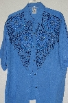 "MBADG #13-177  ""1980's Tropical Nights One Of A Kind Hand Beaded Big Shirt"""