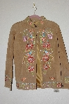 "MBADG #13-197  ""Avanti Tan Suede Fancy Embroidered Jacket"""