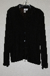 "**MBADG #13-226  ""ColdWater Creek Black Button Front Slinky Top"""