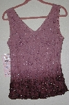 "MBADG #5-057  ""Newport News Fancy Mauve Beaded Tank"""
