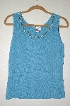 "MBADG #5-061  ""Gardy Blue Jeweled Neck Tank"""