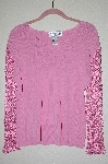 "MBADG #5-143  ""Joseph A Fancy Pink Crochet Sleve Sweater"""