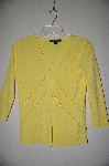 "MBADG #5-125  ""C'est City One Of A Kind Hand Beaded Yellow Cardigan"""