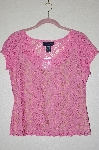 "MBADG #5-113  ""Boston Proper Fancy Pink Lace Top"""
