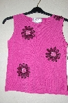 "MBADG #5-217  ""Joseph A Fancy Pink Knit Floral Embelished Tank"""