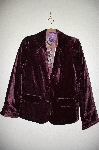 "**MBADG #5-198  ""Newsworthy Velvet Jacket With Antique Floral Print Lining"""