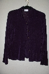 "MBADG #5-207  ""The Travel Collection DK Purple Button Front Stretch Cardigan"""