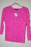 "MBADG #5-186  ""C'est City Fancy Pink Knit Cardigan"""