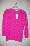 "MBADG #5-182  ""Poppy Hot Pink Fancy Knit Cardigan"""