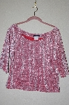 "MBADG #5-250  ""Boston Proper Fancy Pink Velvet Top"""