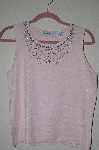 "MBADG #5-288  ""Marisa Christina Fancy Pink Knit Embelished Tank"""