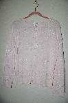 "MBADG #5-259  ""Coldwater Creek Pink Floral Embroidery & Bead Sweater"""