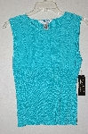 "MBADG #5-315  ""John Paul Richard Uniform Petite Turquoise Blue Knit Shell"""