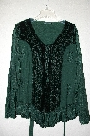 "MBADG #9-078  ""Encounter DK Green Fancy Rayon & Velvet Embroidered Shirt"""