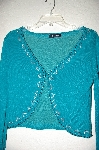 "MBADG #9-090  ""Central Parle Fancy Green Hand Beaded Shrug"""
