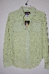 "MBADG #9-124  ""US Western Fancy Green Lace Western Shirt"""