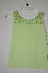 "MBADG #9-146  ""J.A.C. Lime Green Knit Crochet Top Tank"""