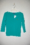 "MBADG #9-174  ""Ralph Lauren Sport Green Pull Over Top"""