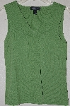 "MBADG #9-181  ""Cable & Gauge Fancy Lime Green Knit Tank"""