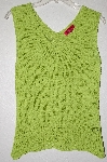 "MBADG #9-193  ""Corina Fancy Knit Lime Green Tank"""