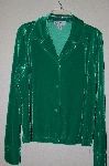 "MBADG #9-202  ""J.G. Hook Fancy Green Velvet Button Front Shirt"""