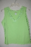 "MBADG #9-215  ""Definite Lime Green Lace Trim Tank"""