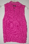 "MBADG #9-260  ""Moda International Pink Knit Zipper Front Tank"""